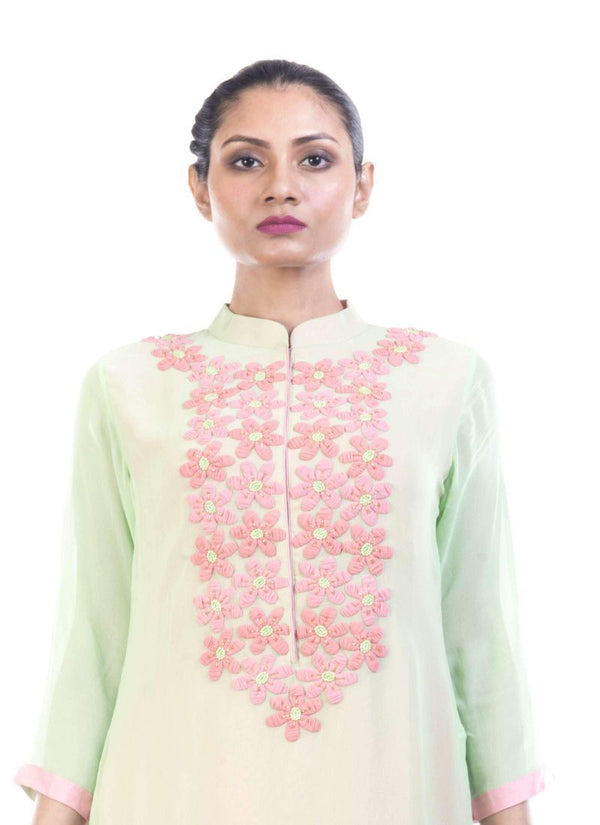Adorable Turquoise Color Georgette Fabric Kurti