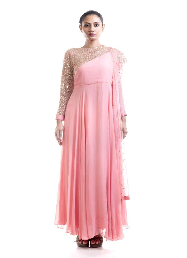 Fantastic Pink Color Georgette Fabric Salwar Kameez