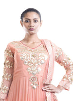 Fantastic Peach Color Georgette Fabric Salwar Kameez