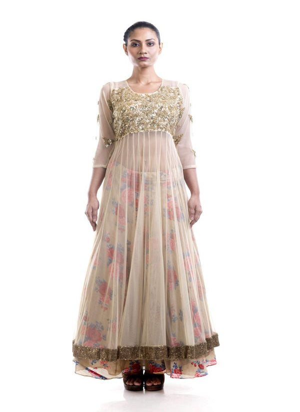 Fantastic Off White Color Net Fabric Lehenga