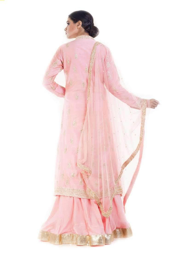 Marvelous Pink Color Silk Fabric Party Wear Lehenga