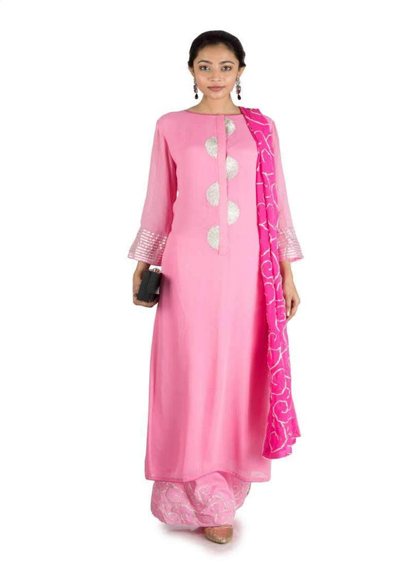 Adorable Pink Color Georgette Fabric Salwar Kameez