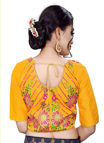 Charming Musturd Color Silk Fabric Blouse