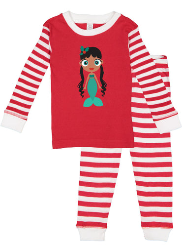Kritter Christmas Mermaid Infant/ Toddler Pajamas - Kritter Haus