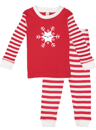 Kritter Christmas Cat Snowflake Infant/ Toddler Pajamas - Kritter Haus