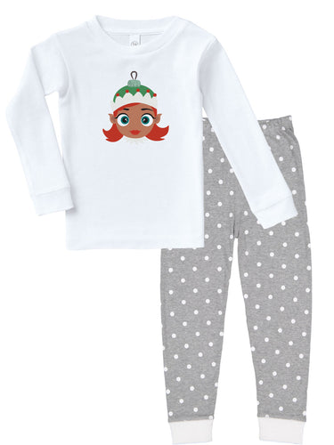 Kritter Christmas Elf Girl Ornament Infant/ Toddler Pajamas - Kritter Haus