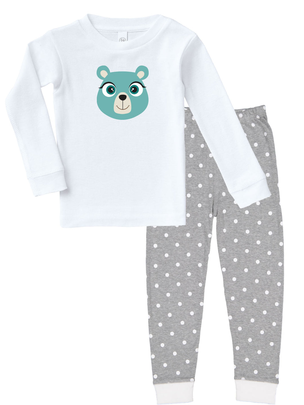 Kritter Christmas Blue Bear Face Infant/ Toddler Pajamas - Kritter Haus