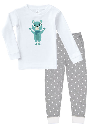 Kritter Christmas Blue Bear Infant/ Toddler Pajamas - Kritter Haus