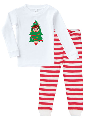 Kritter Christmas Tree Girl Infant/Toddler Pajamas - Kritter Haus