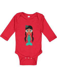 Kritter Christmas Mermaid Long Sleeve Bodysuit - Kritter Haus
