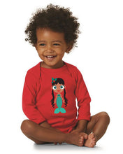 Load image into Gallery viewer, Kritter Christmas Mermaid Long Sleeve Bodysuit - Kritter Haus