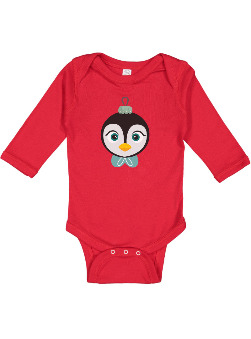 Kritter Christmas Penguin Ornament Long Sleeve Bodysuit - Kritter Haus