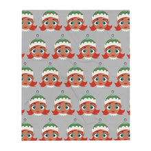 Load image into Gallery viewer, Kritter Christmas Elf Girl Throw Blanket - Kritter Haus