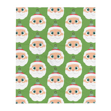 Load image into Gallery viewer, Kritter Christmas Santa Claus Ornament Throw Blanket - Green - Kritter Haus