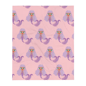 Kritter Mermaid Throw Blanket- Blue Pink - Kritter Haus