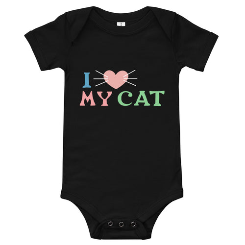 I Love My Cat Baby Bodysuit