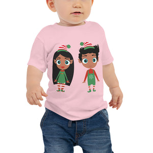 Christmas Elf Baby Short Sleeve Tee - Kritter Haus