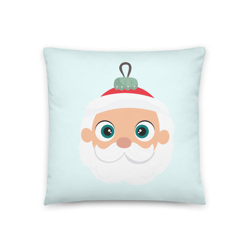 Kritter Christmas Santa Ornament Reversible Throw Pillow- Blue - Kritter Haus