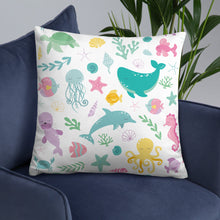 Load image into Gallery viewer, Kritter Sea Animals Throw Pillow - Kritter Haus
