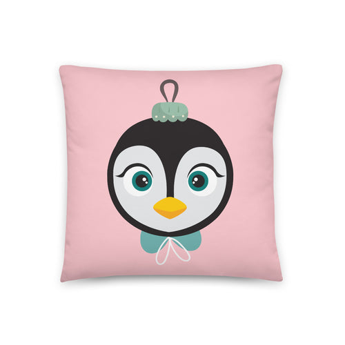 Kritter Christmas Penguin Ornament Reversible Throw Pillow - Kritter Haus