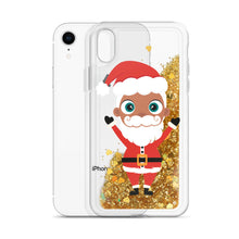 Load image into Gallery viewer, Christmas Kritter Santa Liquid Glitter Phone Case - Kritter Haus