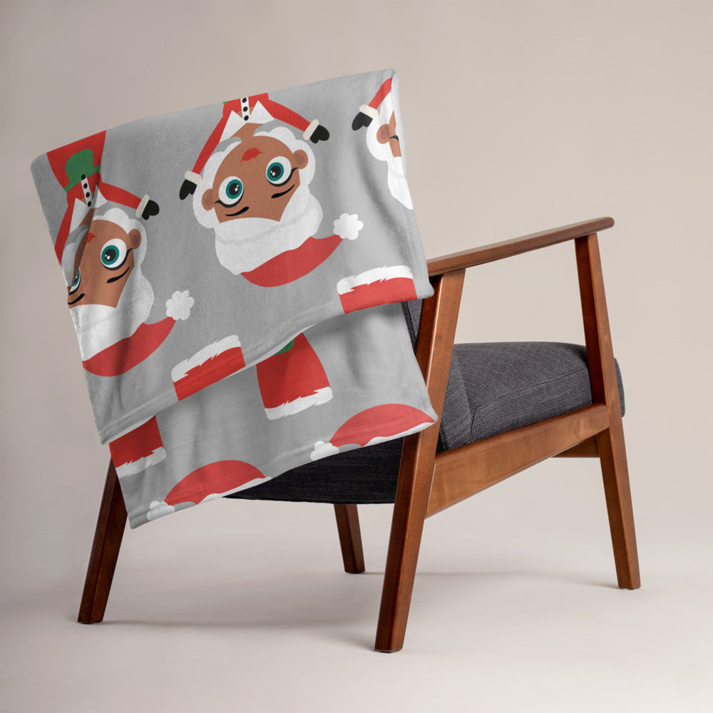Kritter Christmas Mrs Claus Throw Blanket - Kritter Haus