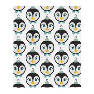 Kritter Christmas Penguin Ornament Throw blanket - 50×60 - Kritter Haus