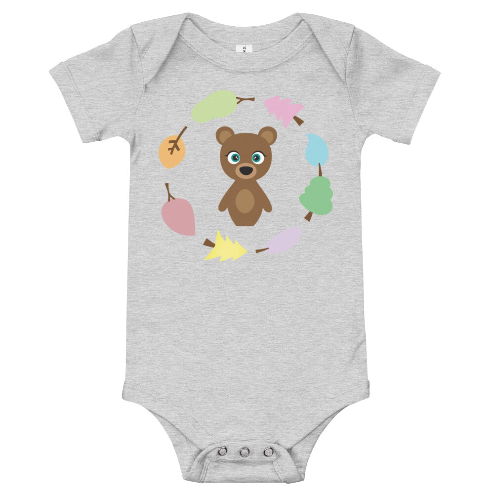 Bear Kritter Wreath Baby Bodysuit