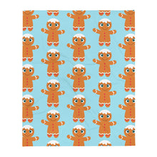 Load image into Gallery viewer, Kritter Christmas Gingerbread Man Throw Blanket - Kritter Haus