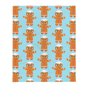 Kritter Christmas Gingerbread Man Throw Blanket - Kritter Haus