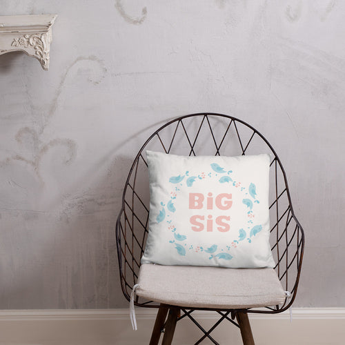 Big Sis Kids Pillow With Insert