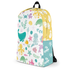 Kritter Sea Animals Graphic Backpack - Kritter Haus