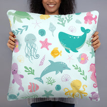 Load image into Gallery viewer, Kritter Mermaid Pillow- Blue - Kritter Haus
