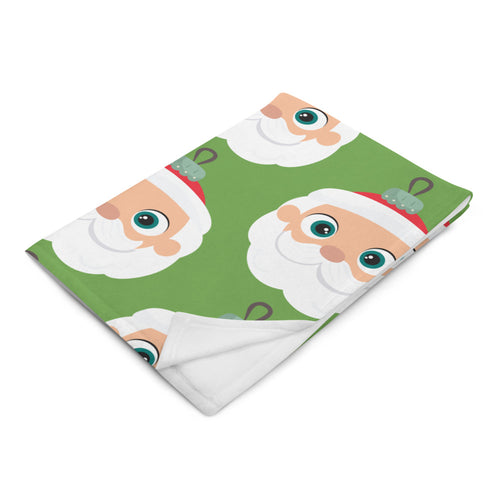 Kritter Christmas Santa Claus Ornament Throw Blanket - Green - Kritter Haus