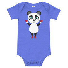 Load image into Gallery viewer, Kritter Christmas Panda Baby Bodysuit