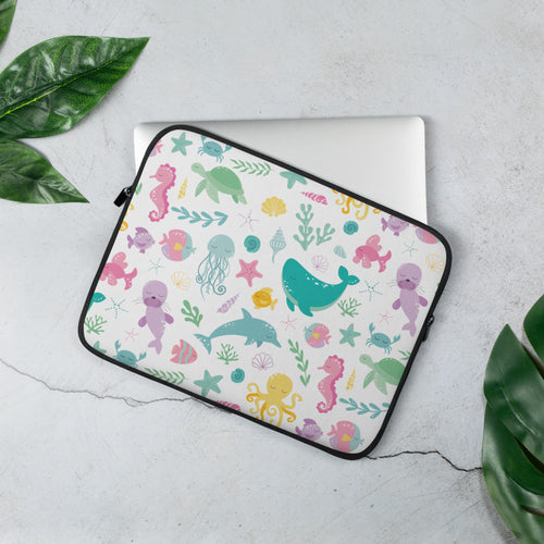 Kritter Sea Animals Graphic Laptop Sleeve - Kritter Haus