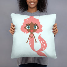 Load image into Gallery viewer, Kritter Mermaid Throw Pillow - Kritter Haus