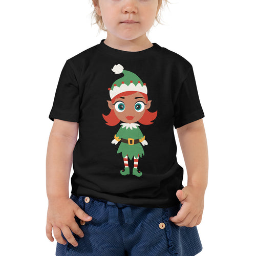 Kritter Christmas Elf Girl Toddler T-shirt