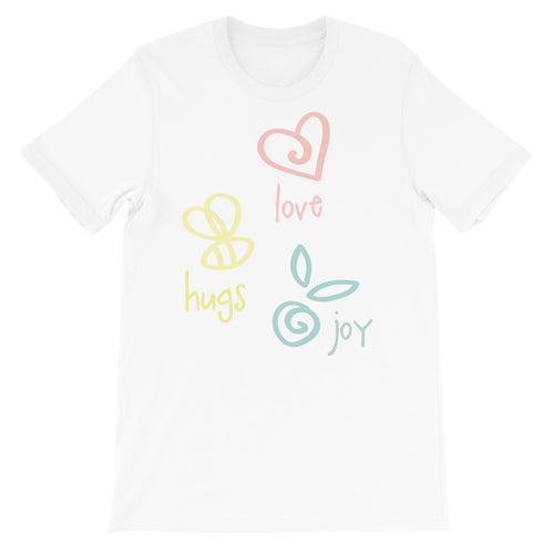 Love Hugs Joy Adult Unisex T-shirt - Kritter Haus