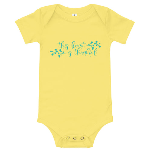 This Heart Is Grateful Baby Bodysuit - Kritter Haus