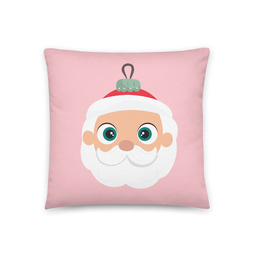 Kritter Christmas Santa Ornament Reversible Throw Pillow- Pink - Kritter Haus