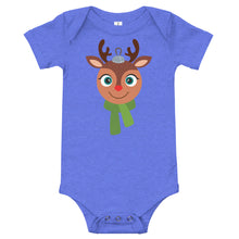 Load image into Gallery viewer, Kritter Christmas  Rudolph Reindeer Ornament Baby Bodysuit