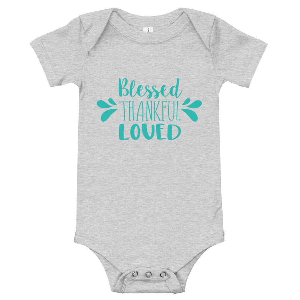 Blessed Thankful Loved Baby Bodysuit - Kritter Haus