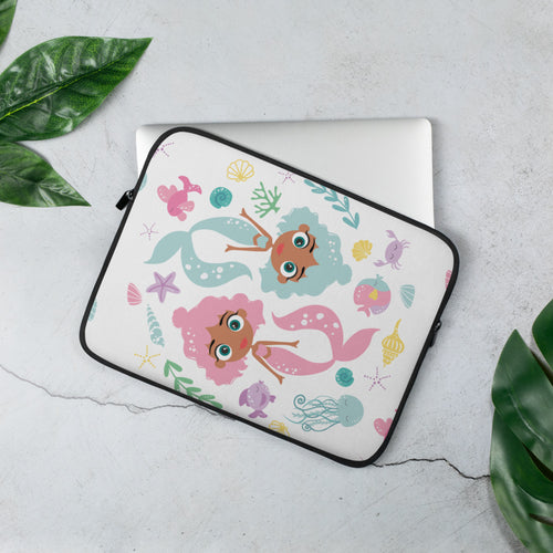 Kritter Mermaid Sea Graphic Laptop Sleeve - Kritter Haus