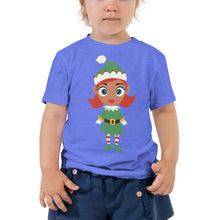 Load image into Gallery viewer, Kritter Christmas Elf Girl Toddler T-shirt