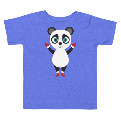 Kritter Christmas Panda Toddler T-shirt