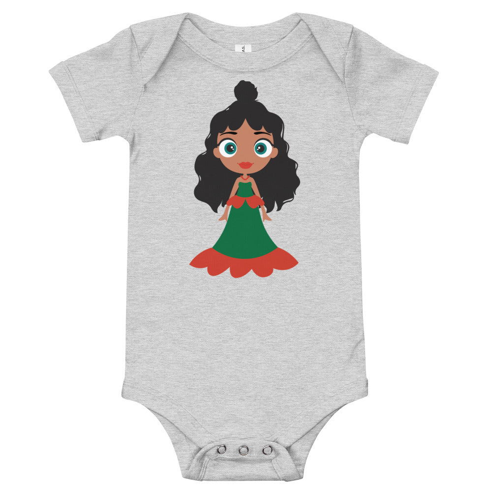 Kritter Christmas Princess Baby Bodysuit
