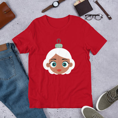Kritter Christmas Mrs Claus Ornament Adult Unisex T-Shirt - Kritter Haus