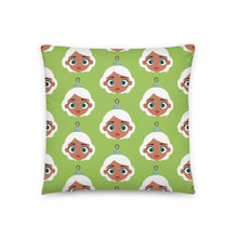 Load image into Gallery viewer, Kritter Christmas Mrs Claus Reversible Throw Pillow- Green - Kritter Haus