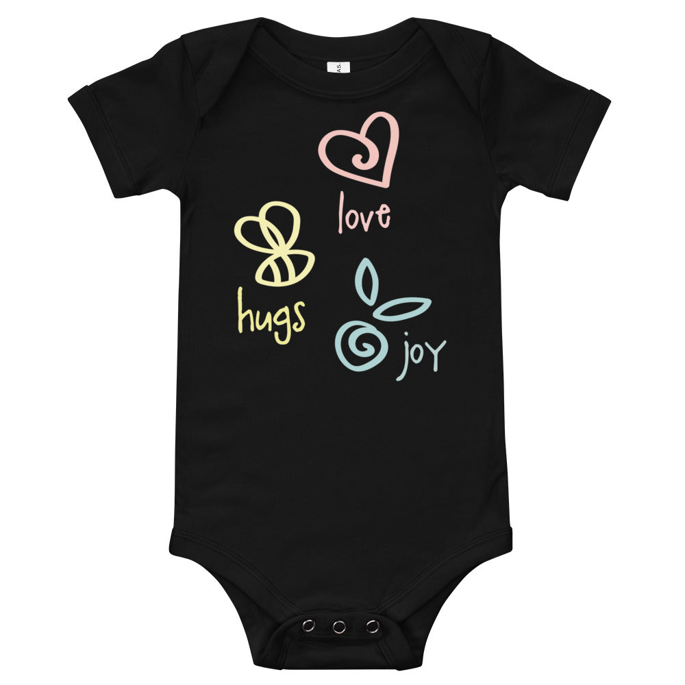 Love Hugs Joy Baby Bodysuit - Kritter Haus